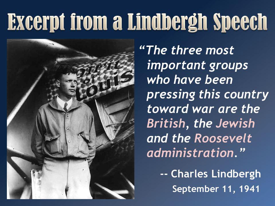 Excerpt from a Lindbergh Speech