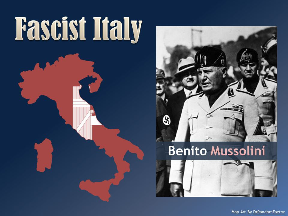 Fascist Italy Benito Mussolini Map Art By DrRandomFactor