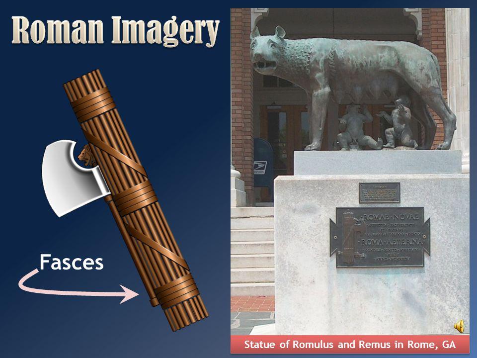 Statue of Romulus and Remus in Rome, GA