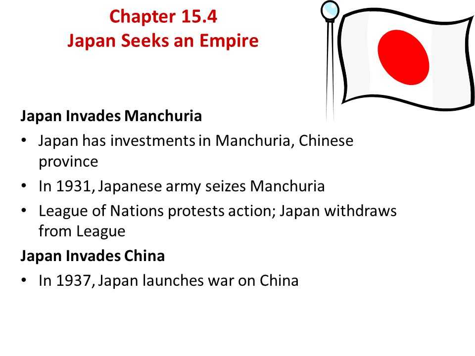 Chapter 15.4 Japan Seeks an Empire