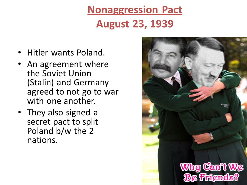 Nonaggression Pact August 23, 1939