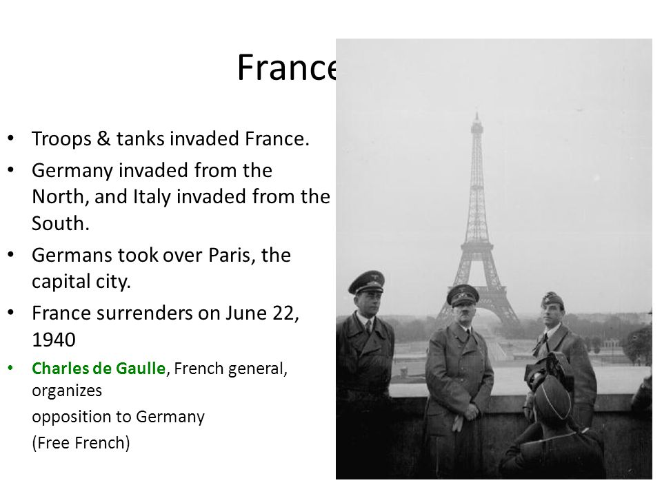 France Falls Troops & tanks invaded France.