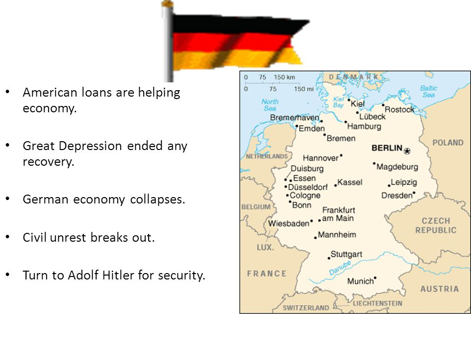 Germany American loans are helping economy.