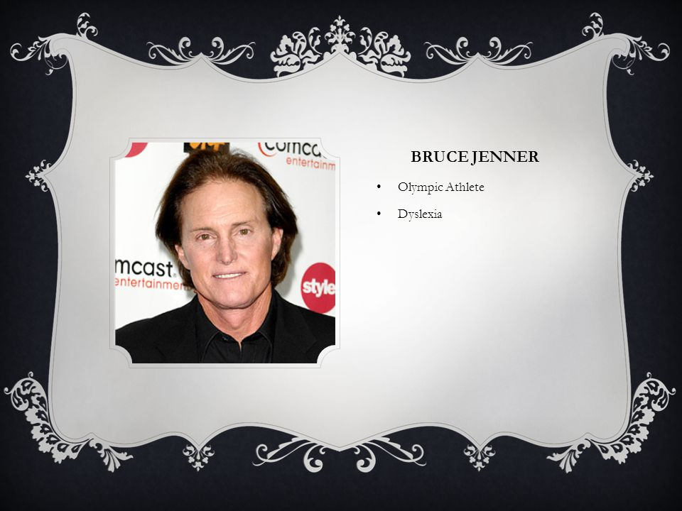 Bruce Jenner Olympic Athlete Dyslexia