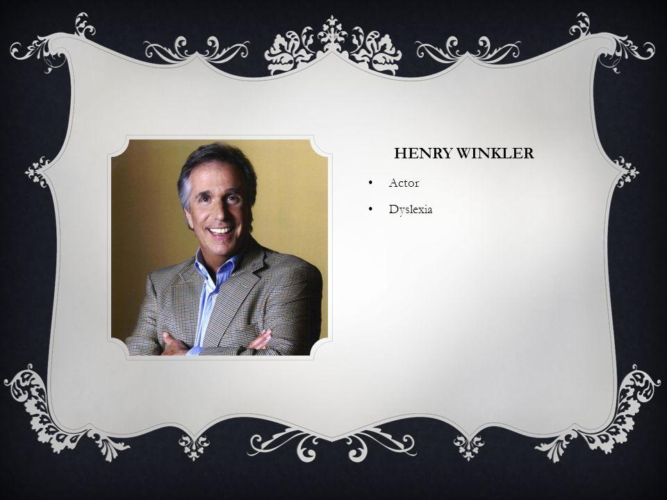 Henry Winkler Actor Dyslexia