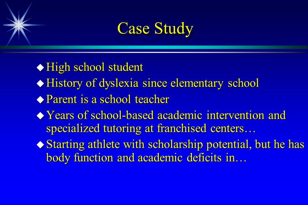 Case Study High school student