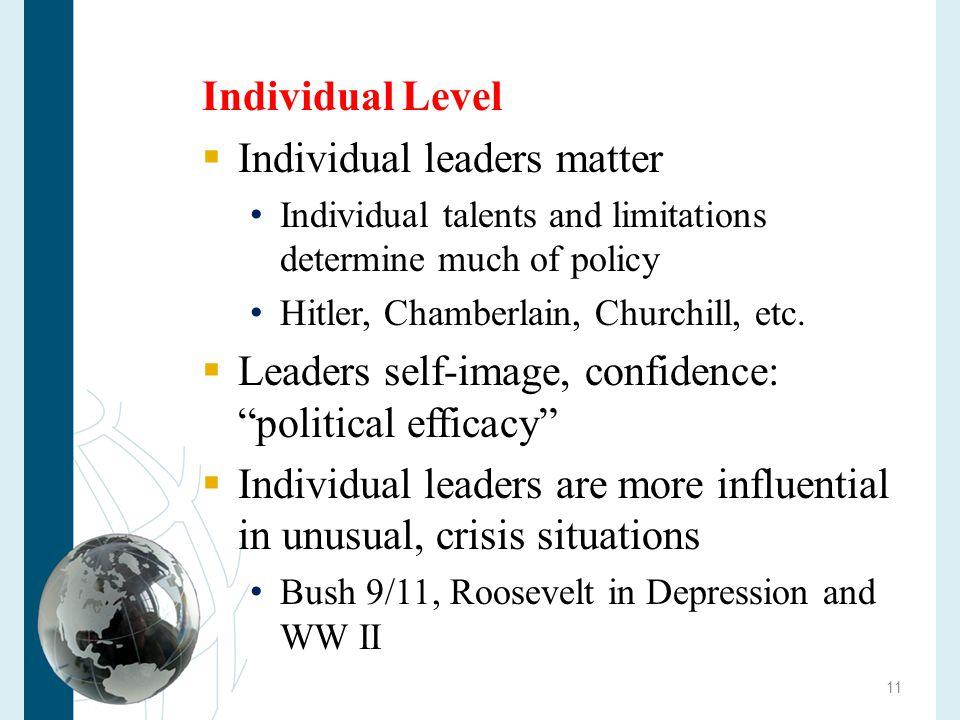 Individual leaders matter