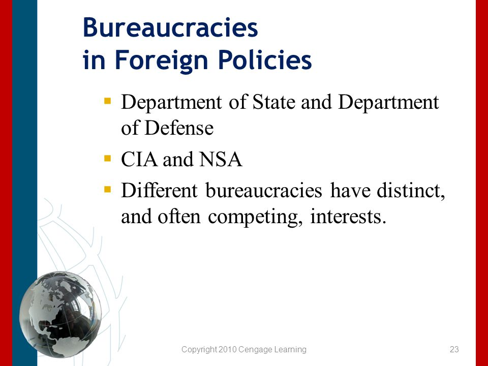 Bureaucracies in Foreign Policies