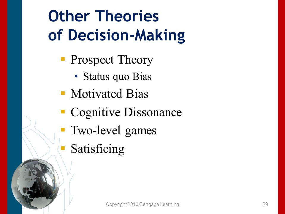 Other Theories of Decision-Making