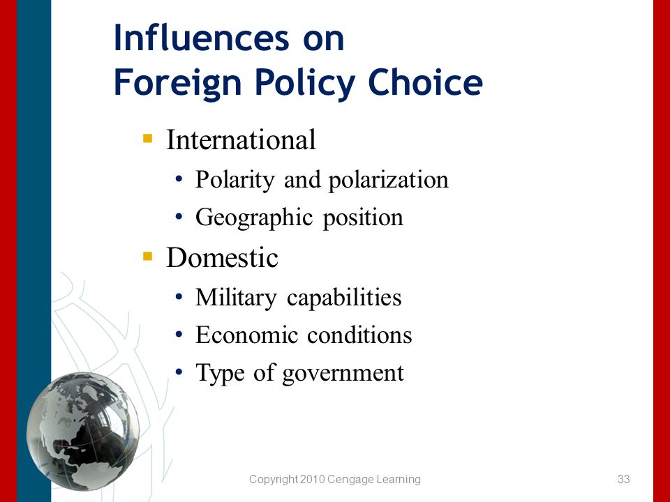 Influences on Foreign Policy Choice