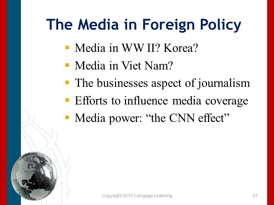 The Media in Foreign Policy