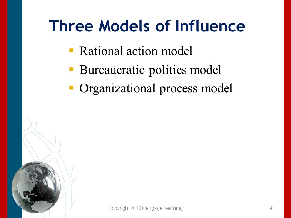 Three Models of Influence