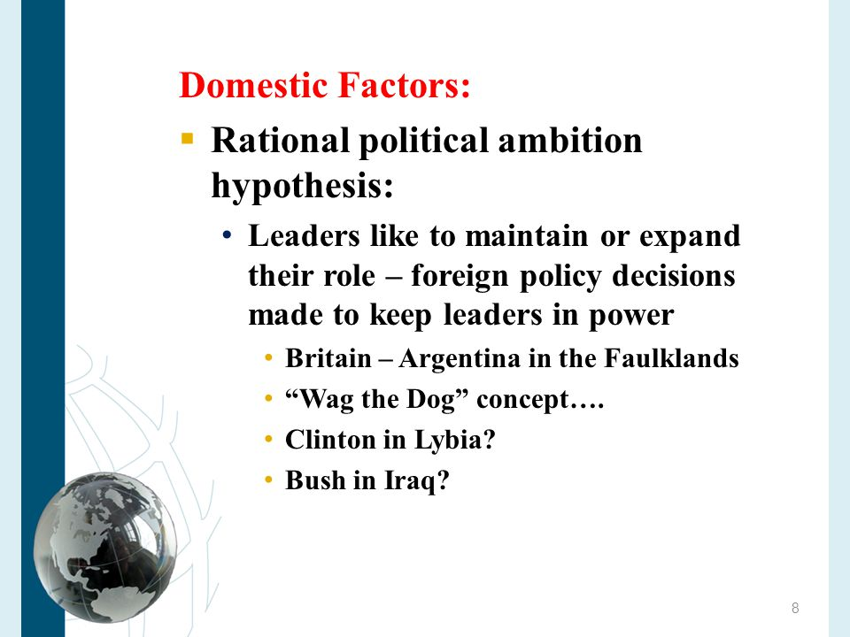 Rational political ambition hypothesis:
