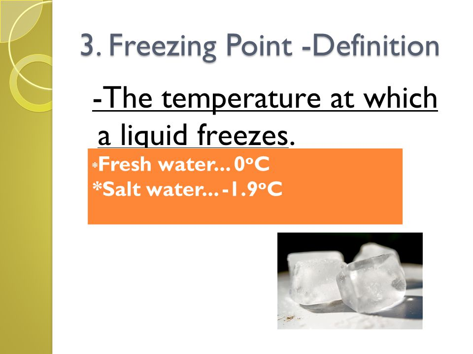 3. Freezing Point -Definition