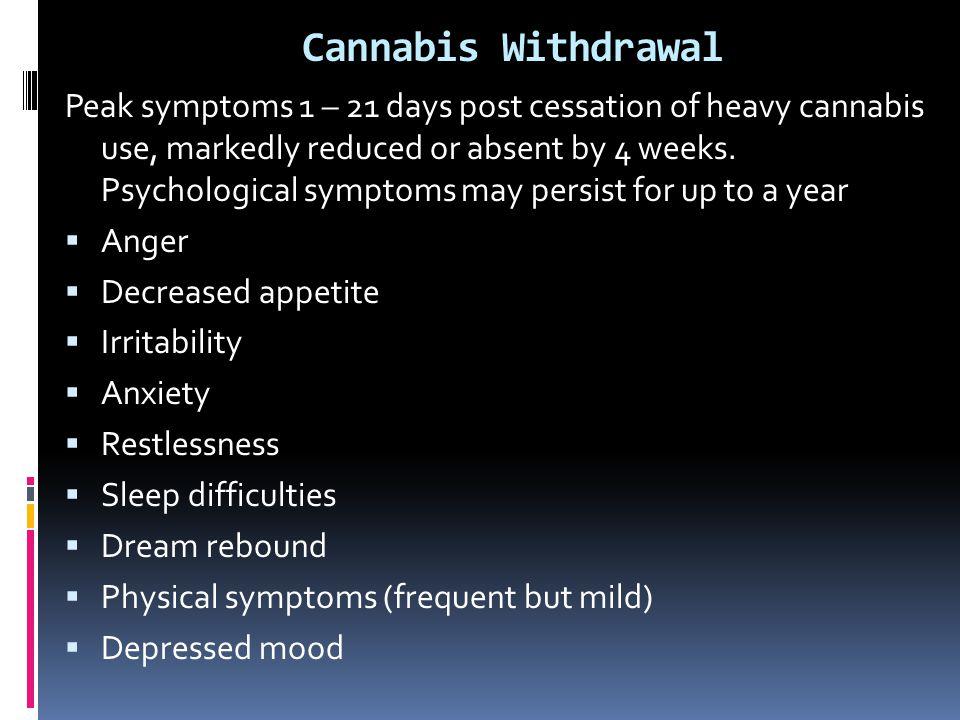 Cannabis Withdrawal