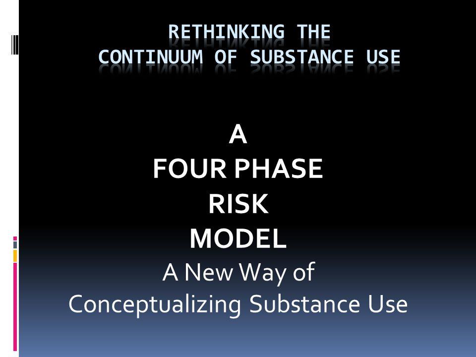 Rethinking the Continuum of Substance Use