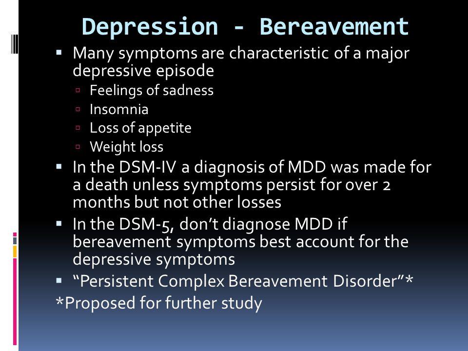 Depression - Bereavement