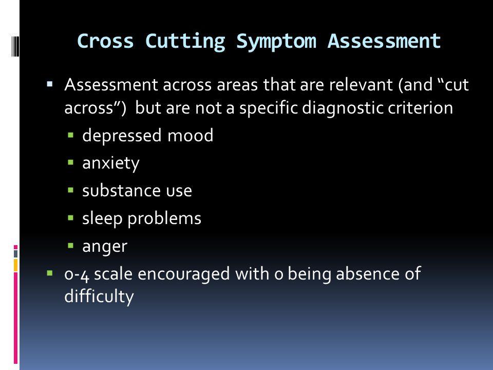 Cross Cutting Symptom Assessment