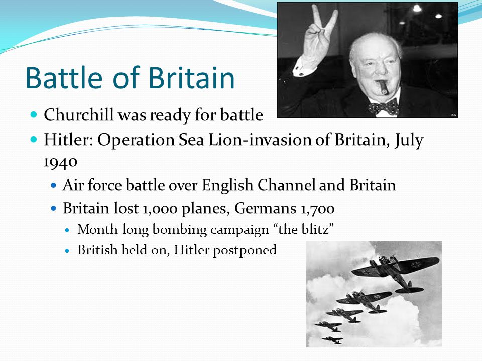 Battle of Britain Churchill was ready for battle