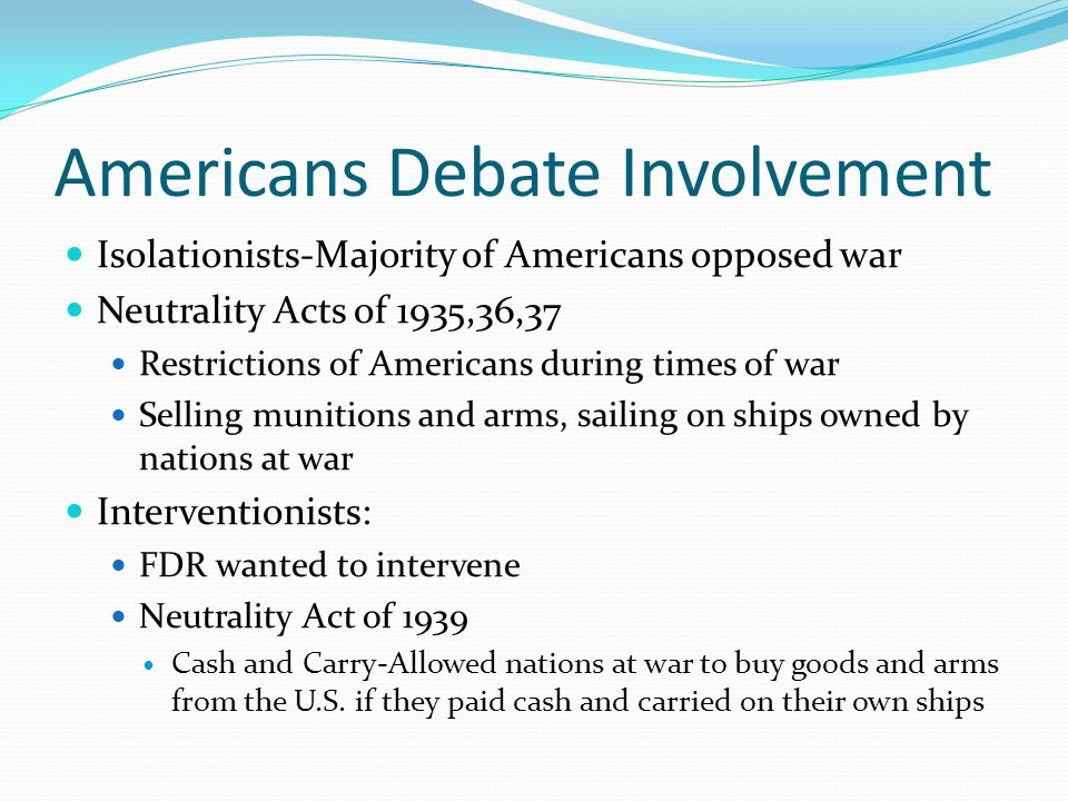 Americans Debate Involvement