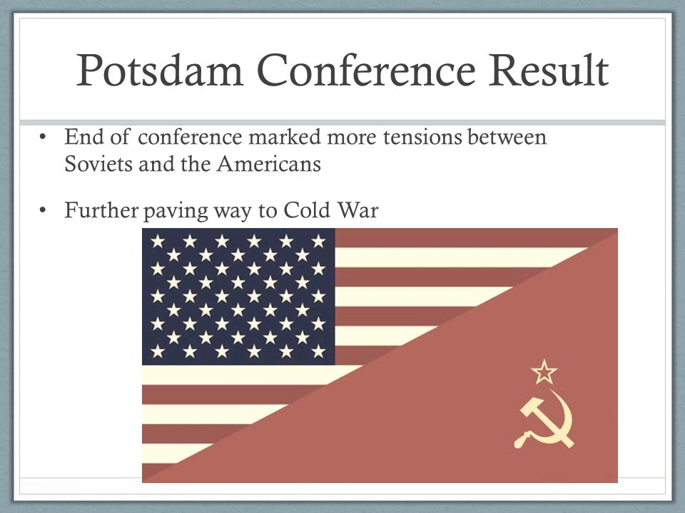 Potsdam Conference Result
