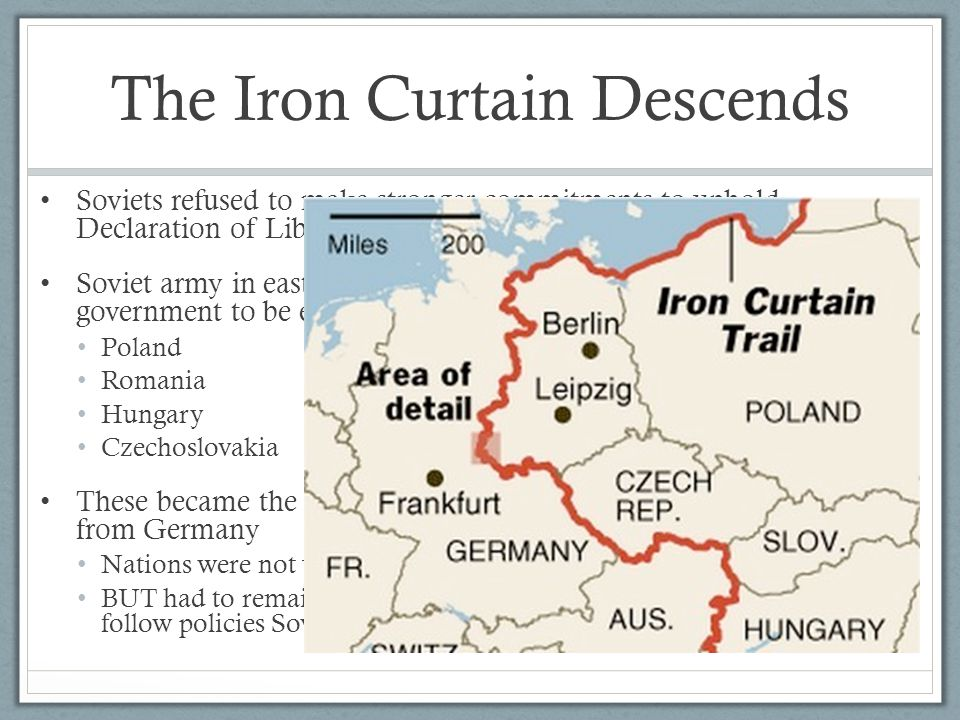 The Iron Curtain Descends