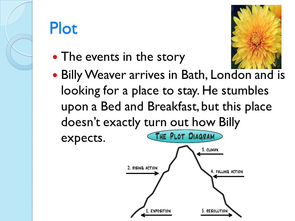 Plot The events in the story