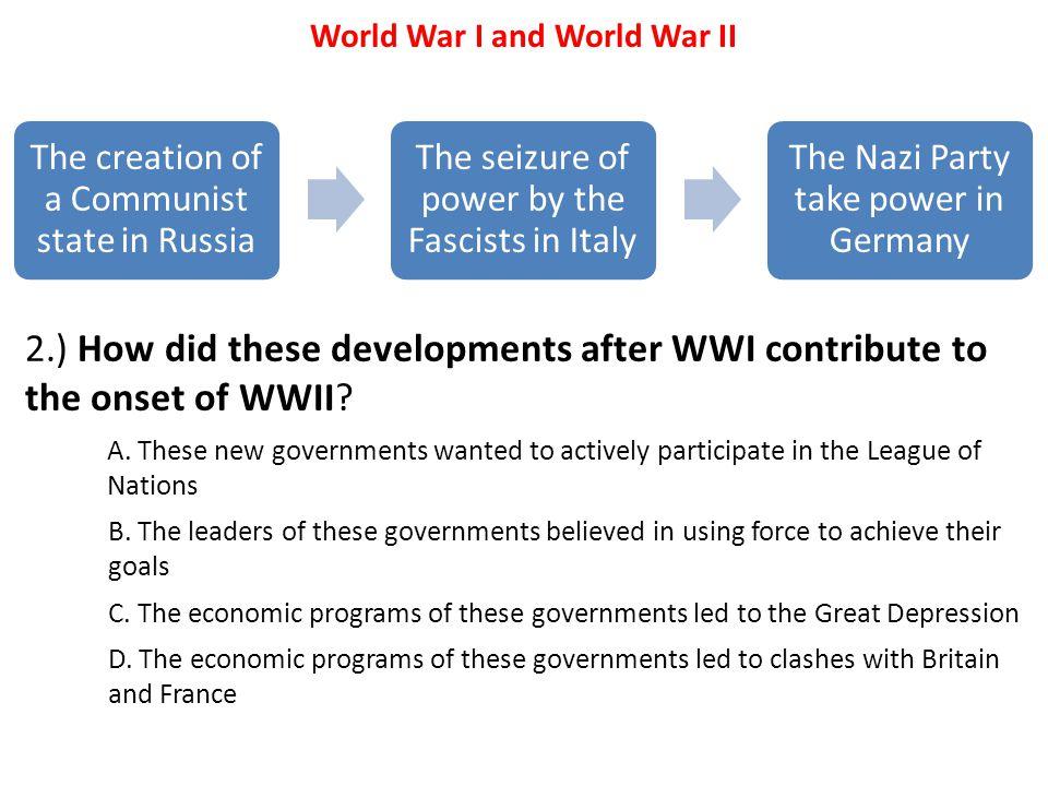 World War I and World War II