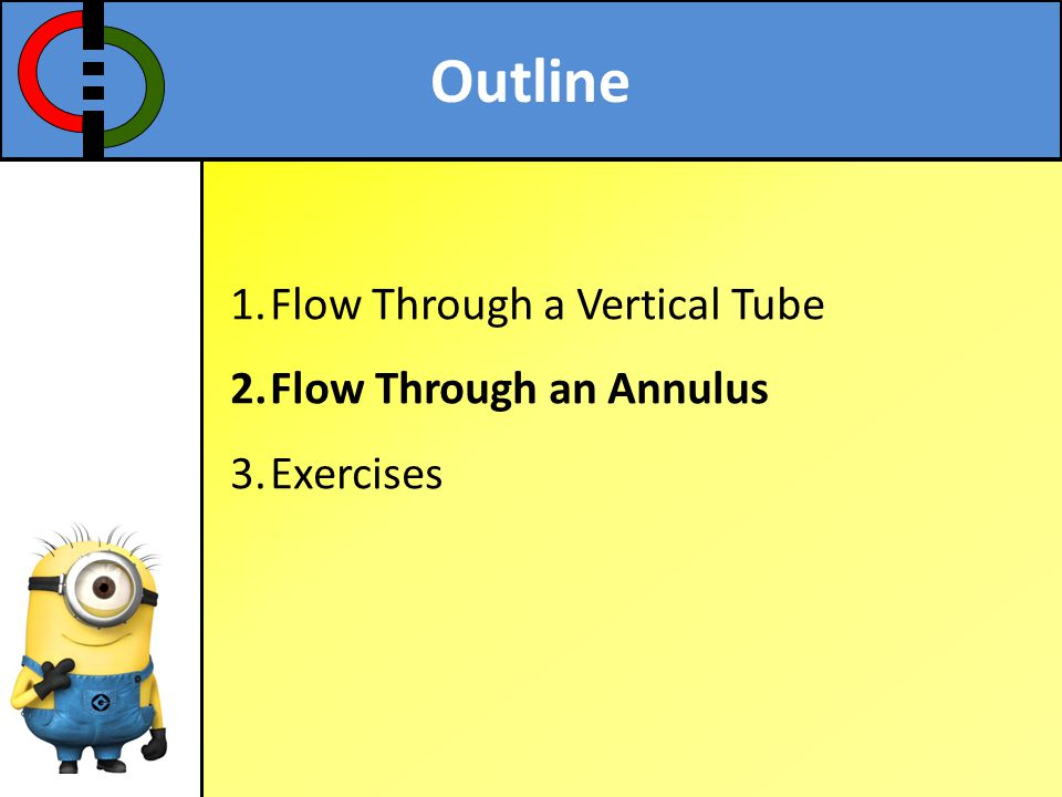 Outline Flow Through a Vertical Tube Flow Through an Annulus Exercises