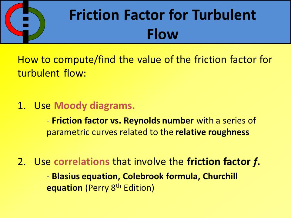 Friction Factor for Turbulent Flow