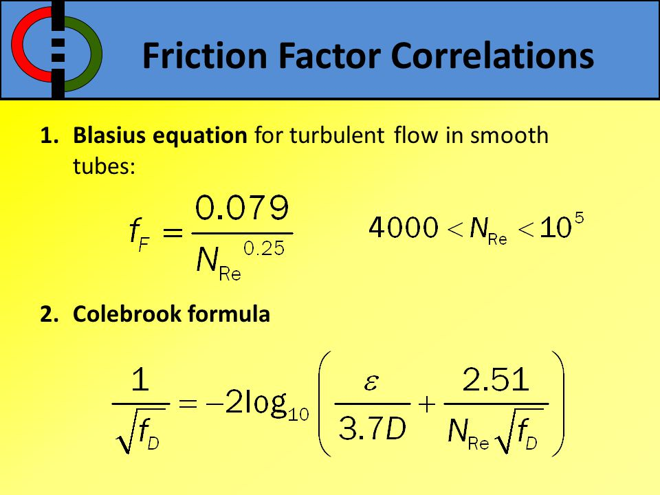 Friction Factor Correlations