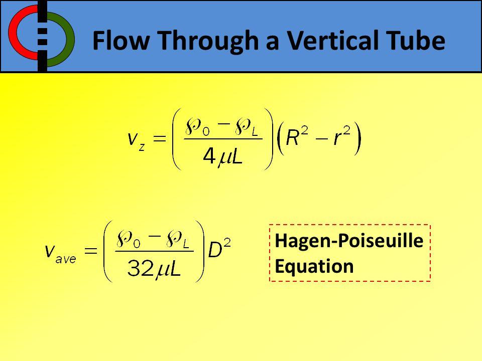 Flow Through a Vertical Tube
