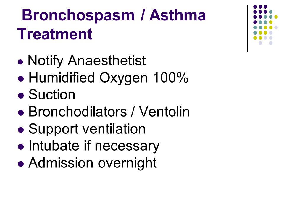 Bronchospasm / Asthma Treatment