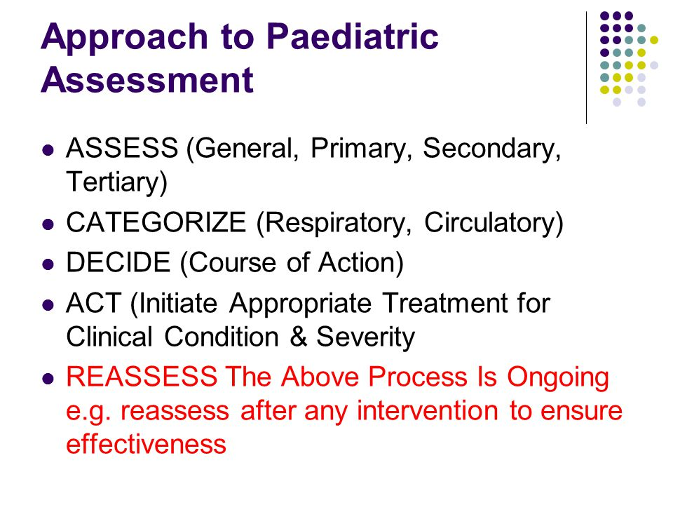 Approach to Paediatric Assessment