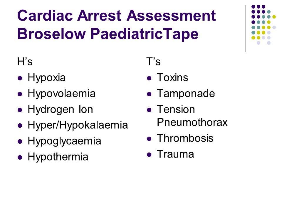 Cardiac Arrest Assessment Broselow PaediatricTape