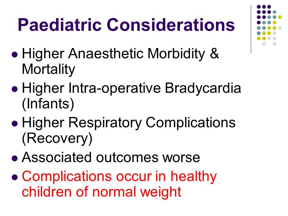 Paediatric Considerations