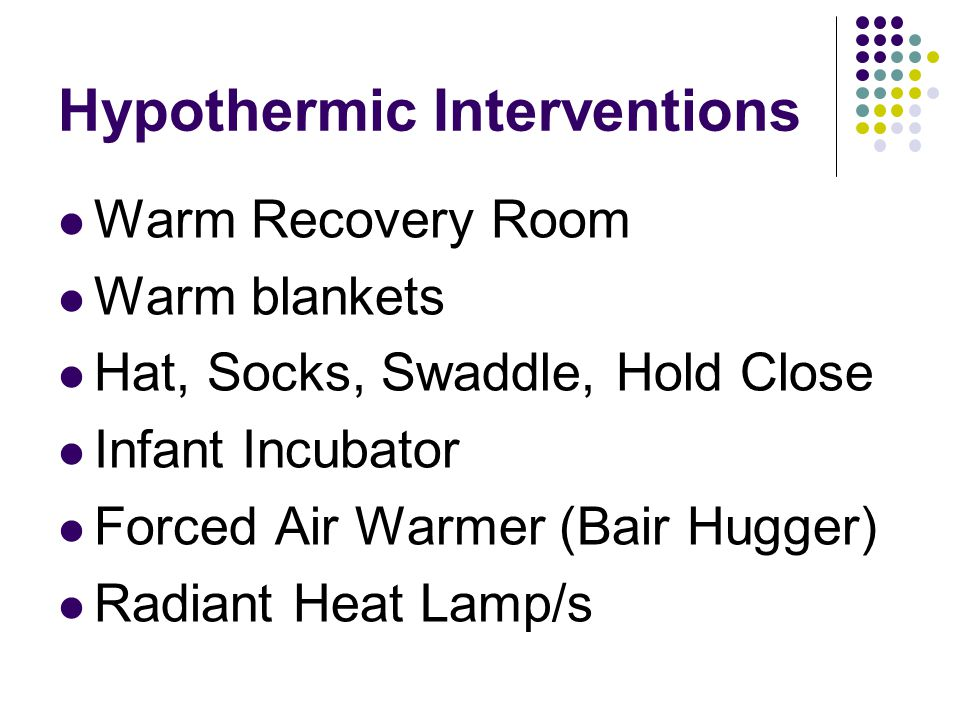 Hypothermic Interventions