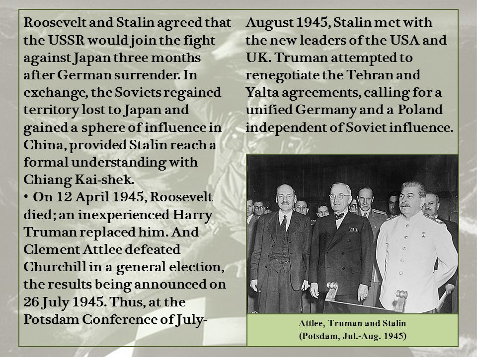 Attlee, Truman and Stalin