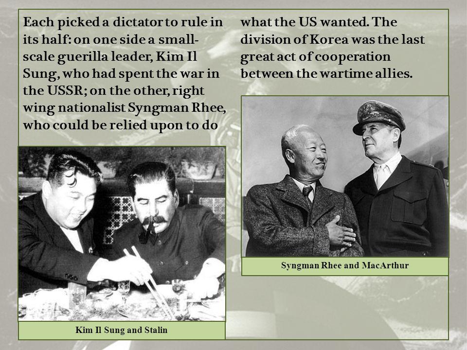 Syngman Rhee and MacArthur