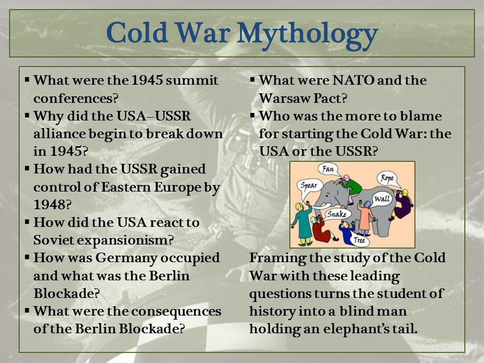 Cold War Mythology What were the 1945 summit conferences