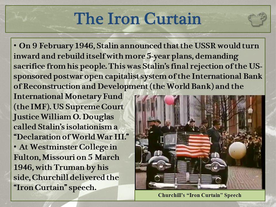 Churchill's Iron Curtain Speech