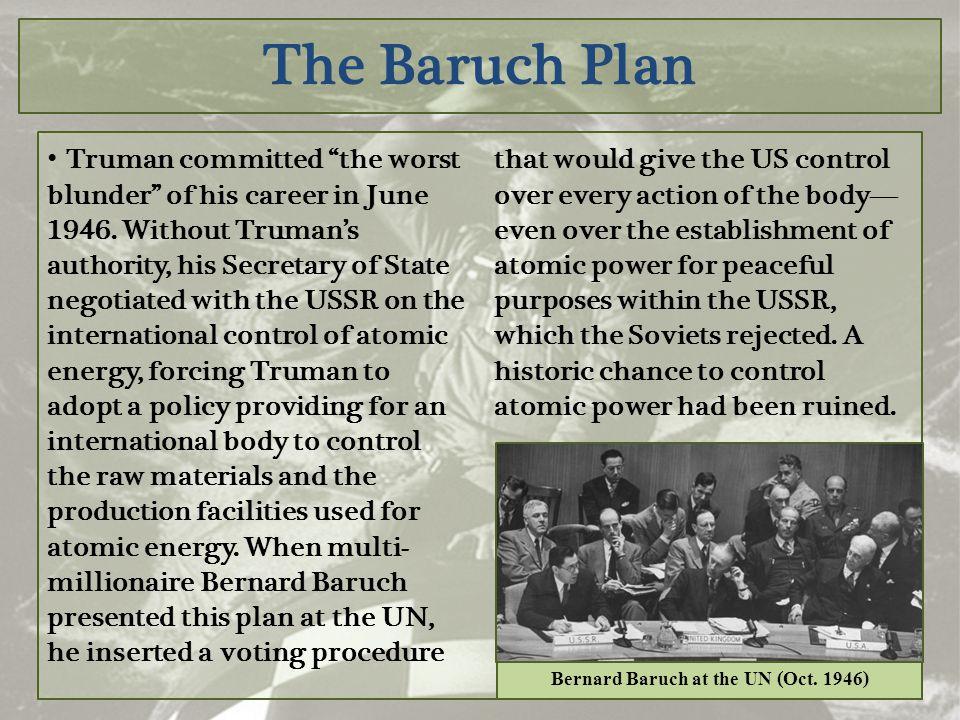 Bernard Baruch at the UN (Oct. 1946)