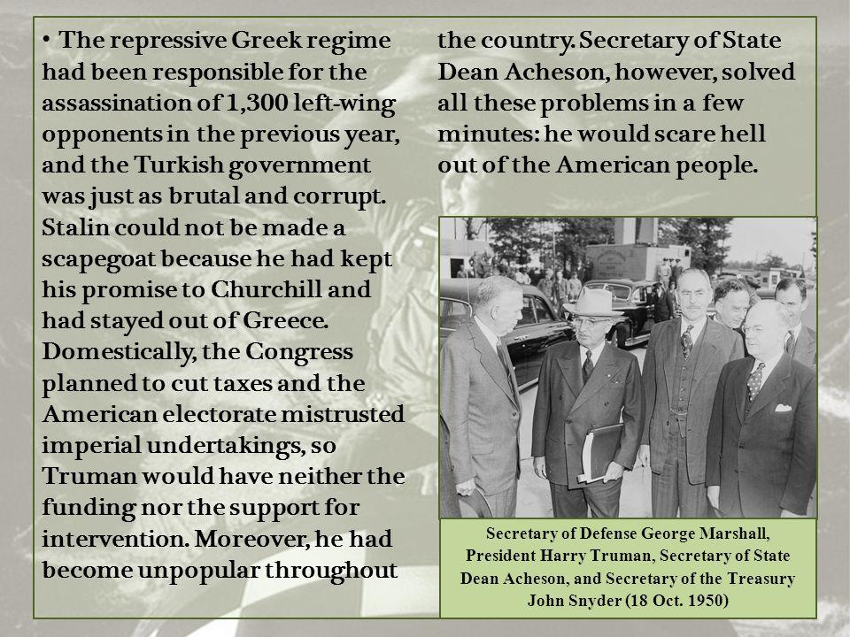 Secretary of Defense George Marshall,