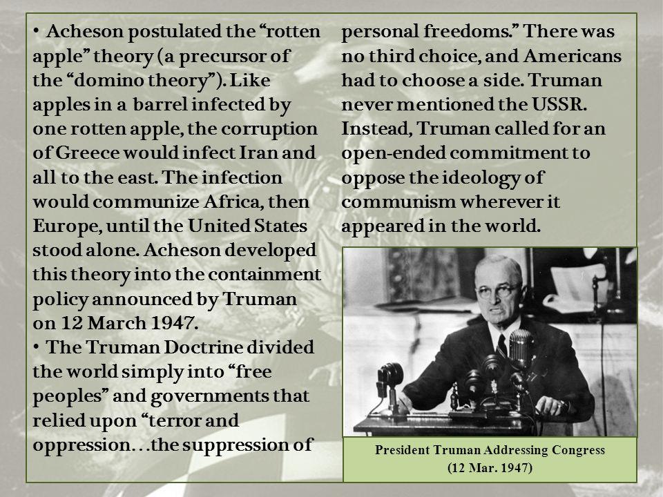 President Truman Addressing Congress