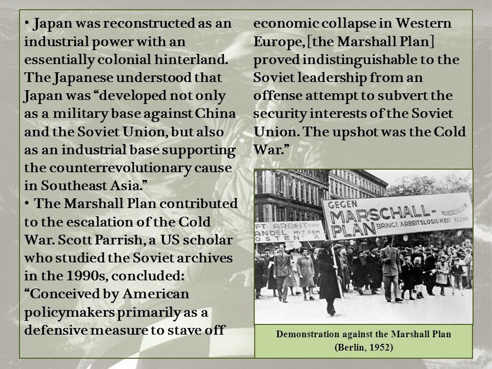 Demonstration against the Marshall Plan