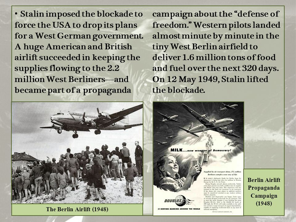 Berlin Airlift Propaganda Campaign (1948)