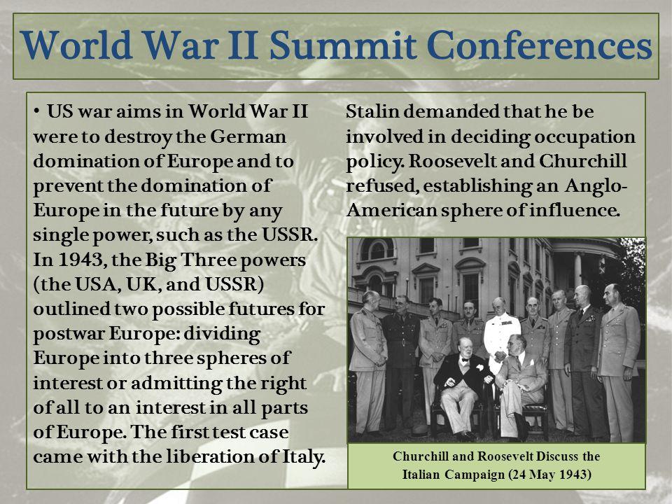 World War II Summit Conferences