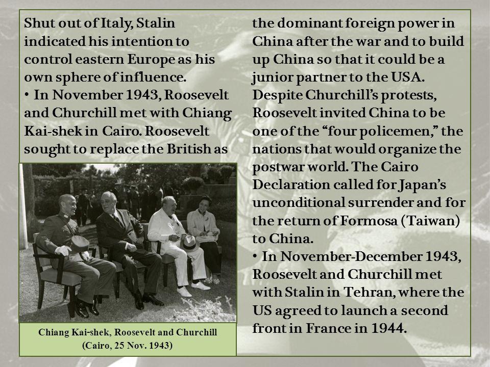 Chiang Kai-shek, Roosevelt and Churchill