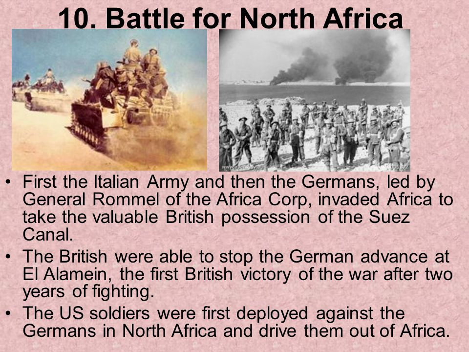 10. Battle for North Africa