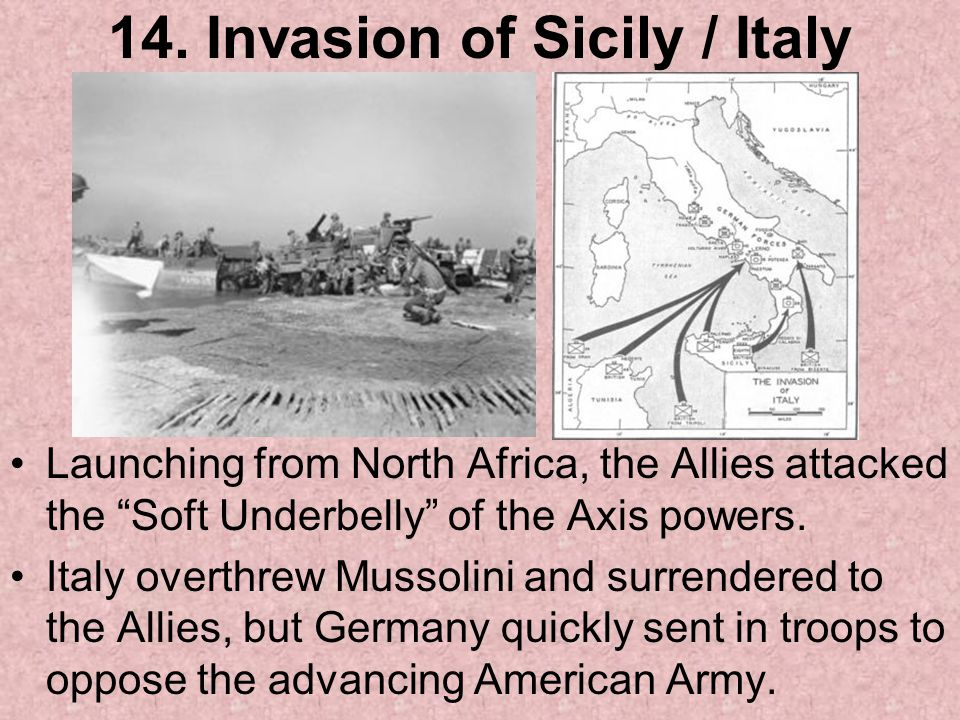 14. Invasion of Sicily / Italy